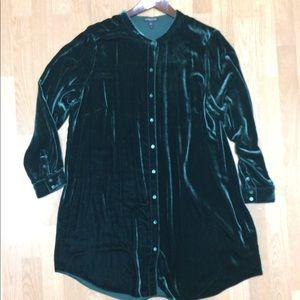 Eileen Fisher washable velvet tunic